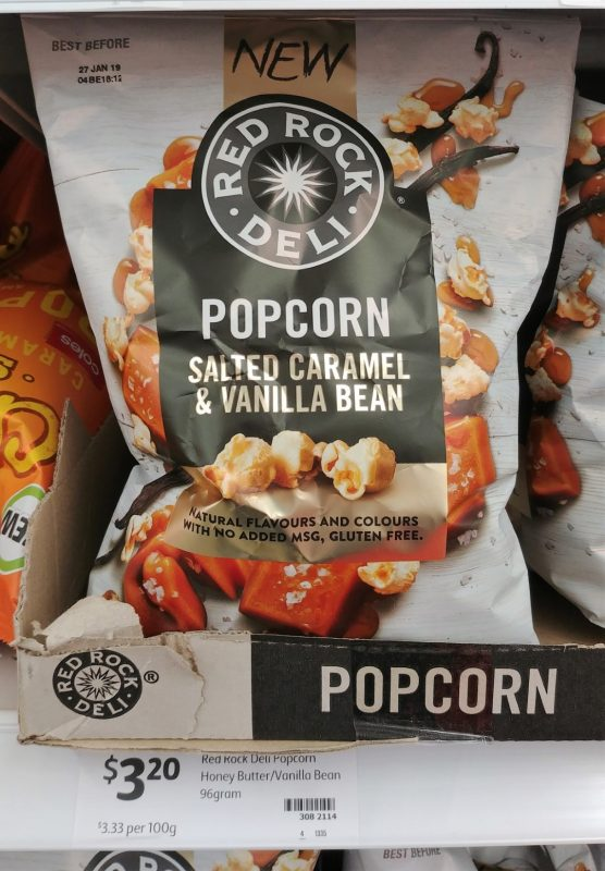 Red Rock Deli 96g Popcorn Salted Caramel & Vanilla Bean