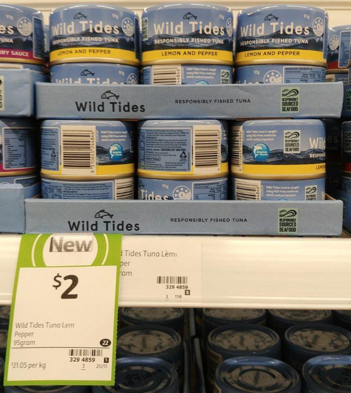 Wild Tides 95g Tuna Lemon And Pepper