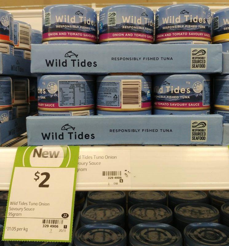Wild Tides 95g Tuna Onion And Tomato Savoury Sauce