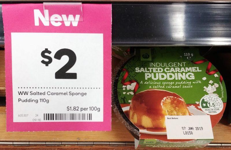Woolworths 110g Salted Caramel Pudding Indulgent