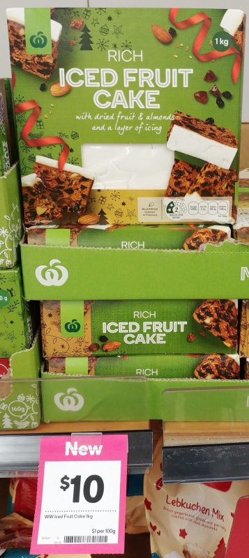 Woolworths 1kg Cake Iced Fruit