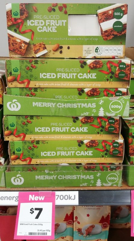 Woolworths 500g Cake Iced Fruit