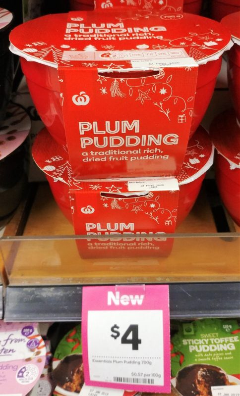 Woolworths 700g Plum Pudding