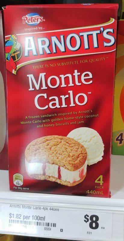 Arnott's 440mL Frozen Sandwich Monte Carlo