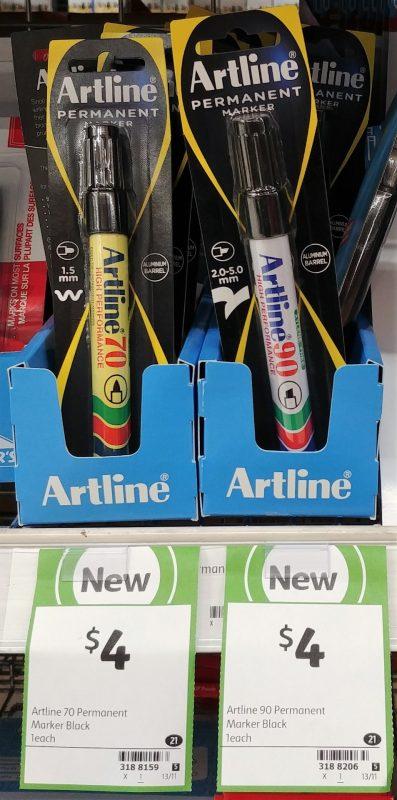 Artline 1 Pack Permanent Marker 70, 90
