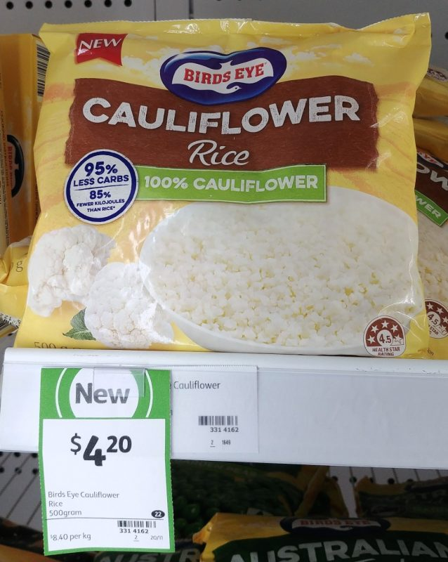 Birds Eye 500g Rice Cauliflower