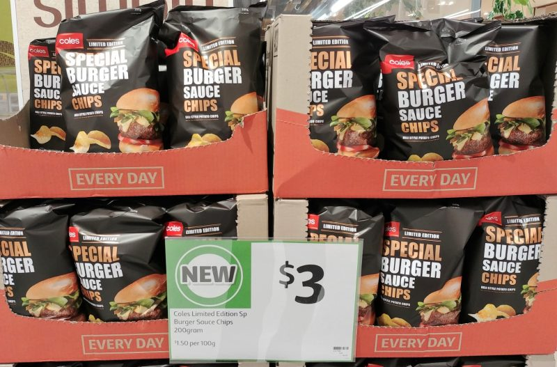 Coles 200g Chips Special Burger Sauce