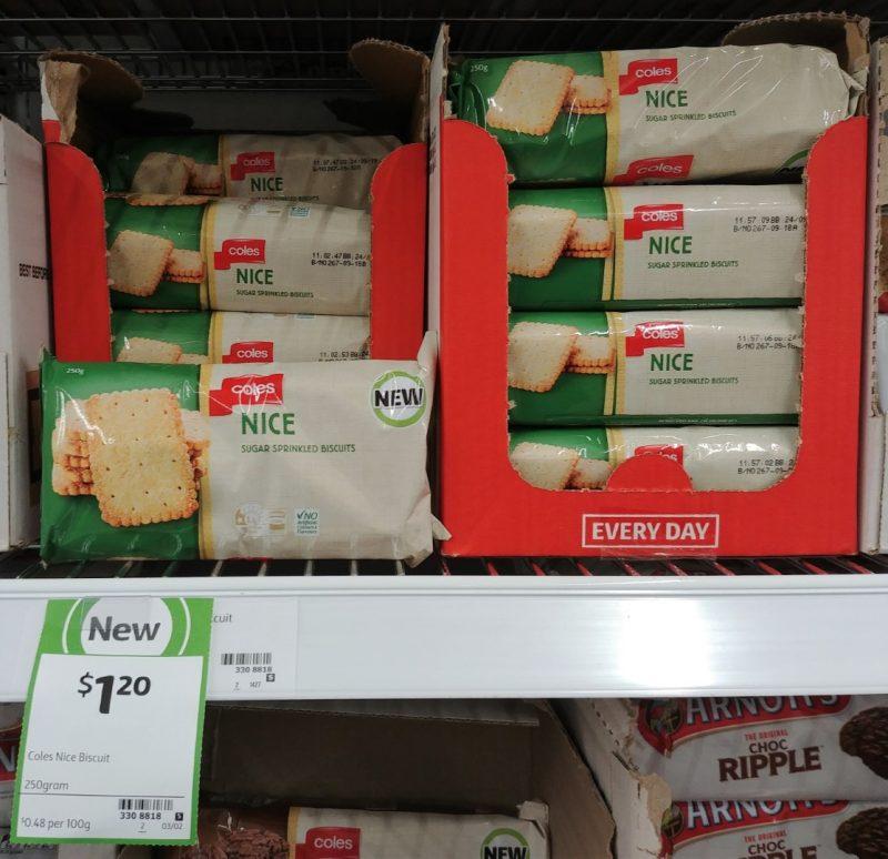 Coles 250g Biscuits Nice