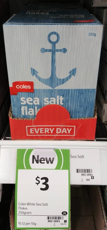 Coles 250g Sea Salt Flakes