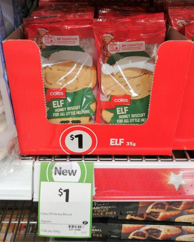 Coles 35g Biscuit Elf Honey