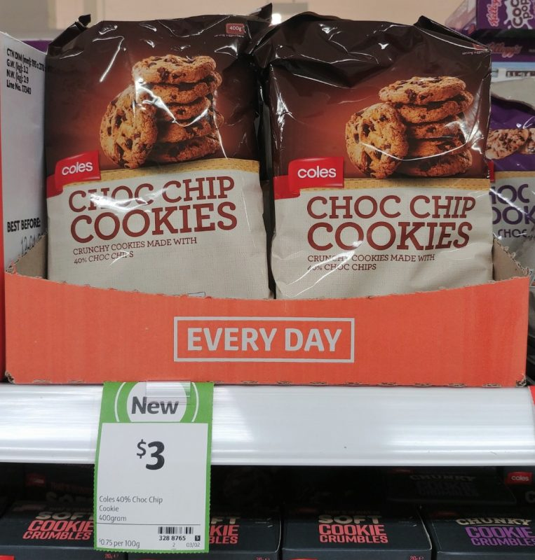 Coles 400g Cookies Choc Chip