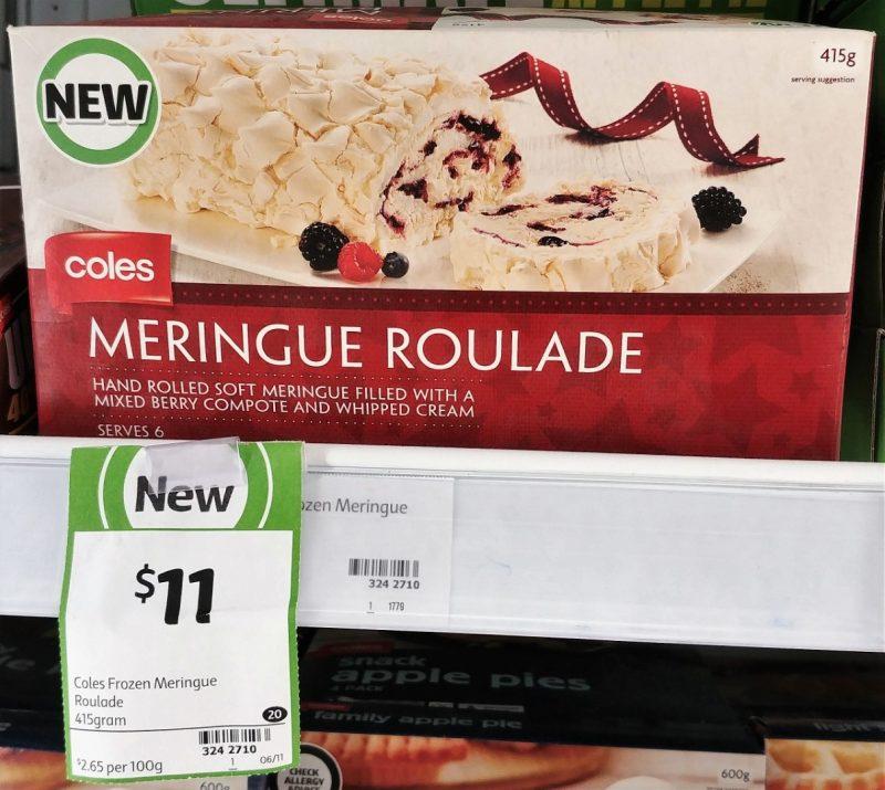 Coles 415g Meringue Roulade