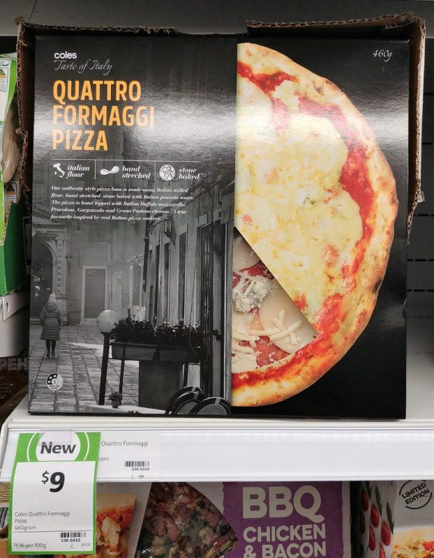 Coles 460g Taste Of Italy Pizza Quattro Formaggi