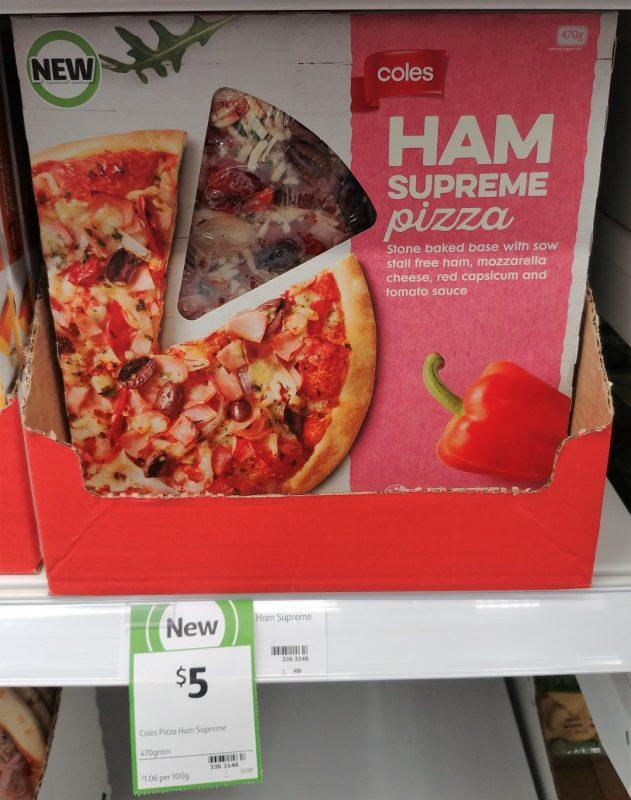 Coles 470g Pizza Ham Supreme