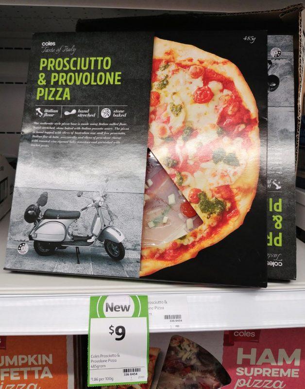 Coles 485g Taste Of Italy Pizza Prosciutto & Provolone