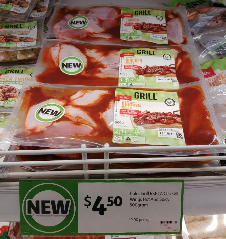 Coles 500g Grill Chicken Wings Hot And Spicy Marinade