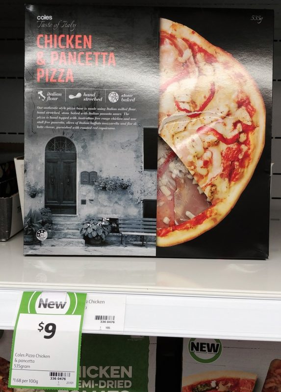 Coles 535g Taste Of Italy Pizza Chicken & Pancetta