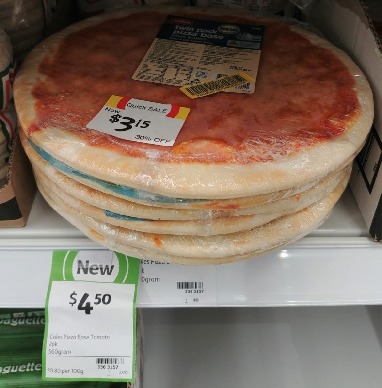 Coles 560g Pizza Base Twin Pack