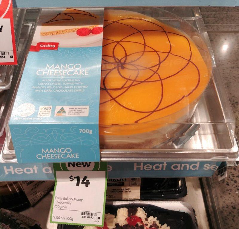 Coles 700g Cheesecake Mango