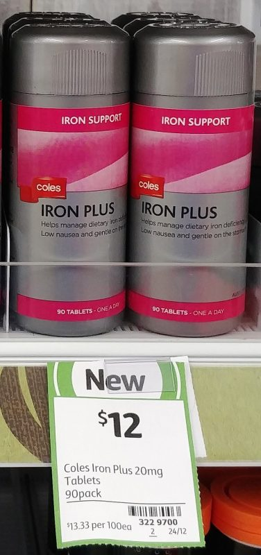 Coles 90 Pack Iron Plus