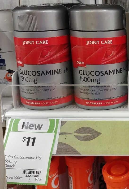 Coles 90 Pack Joint Care Glucosamine HCL 1500mg
