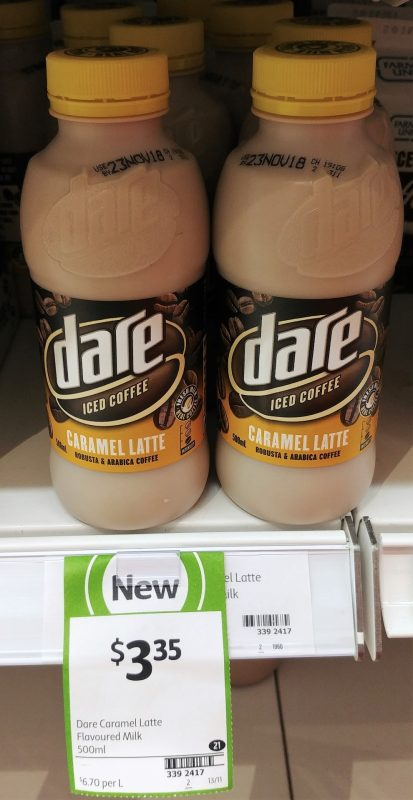 Dare 500mL Iced Coffee Caramel Latte