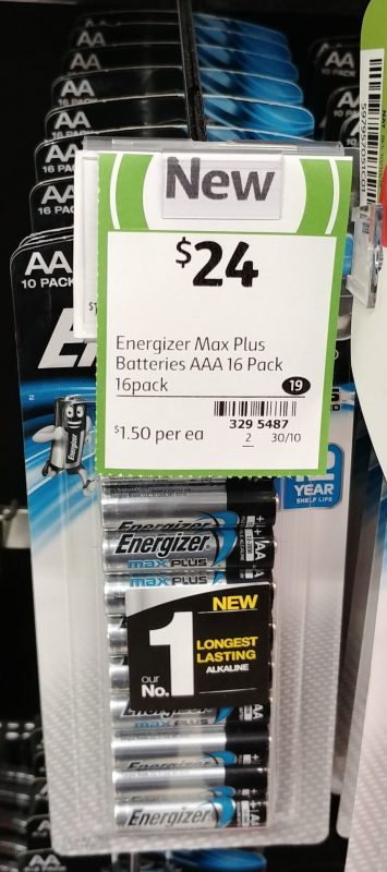 Energizer 16 Pack Batteries AAA Max Plus