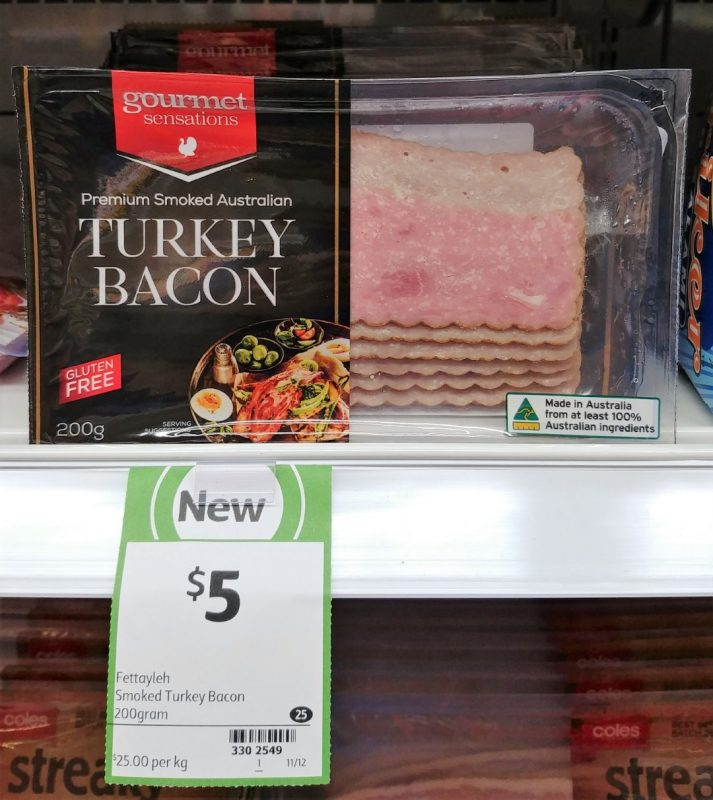 Gourmet Sensations 200g Turkey Bacon