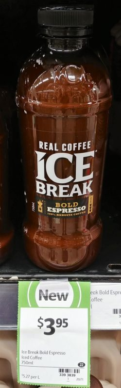 Ice Break 750mL Iced Coffee Bold Espresso