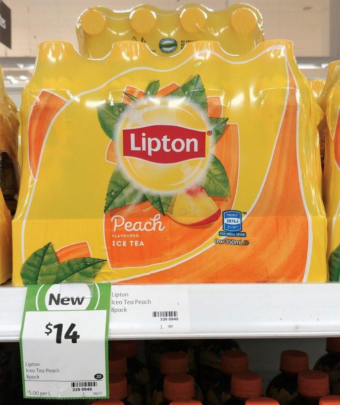 Lipton 8 X 350mL Ice Tea Peach Flavoured