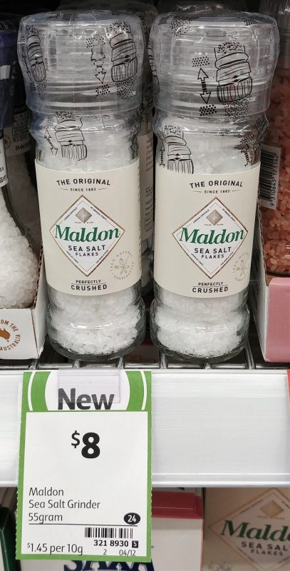 Maldon 55g Sea Salt Flakes Grinder