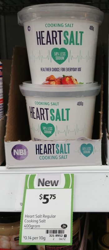 NBI 400g Cooking Salt Heart Salt