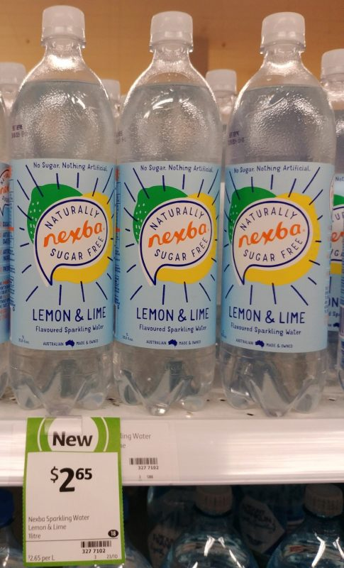Nexba 1L Sparkling Water Flavoured Lemon & Lime