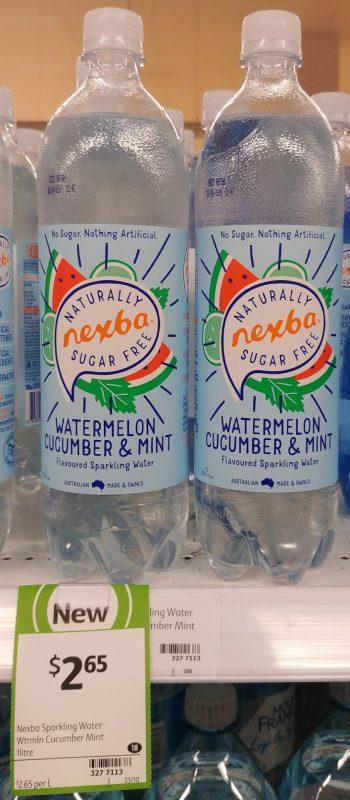 Nexba 1L Sparkling Water Flavoured Watermelon Cucumber & Mint
