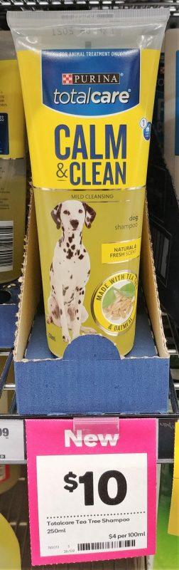 Purina 250mL Calm & Clean Dog Shampoo Natural & Fresh Scent