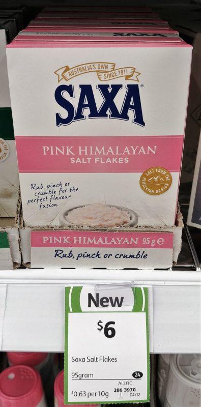 Saxa 95g Salt Flakes Pink Himalayan