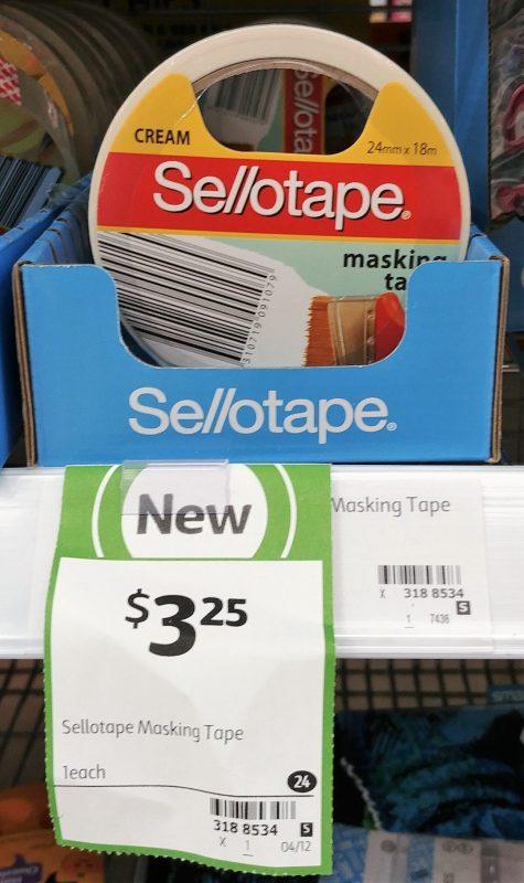 Sellotape 1 Pack Masking Tape Cream