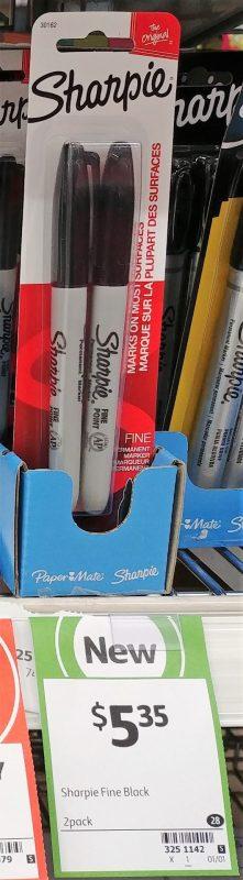 Sharpie 2 Pack Permanent Marker Fine Point