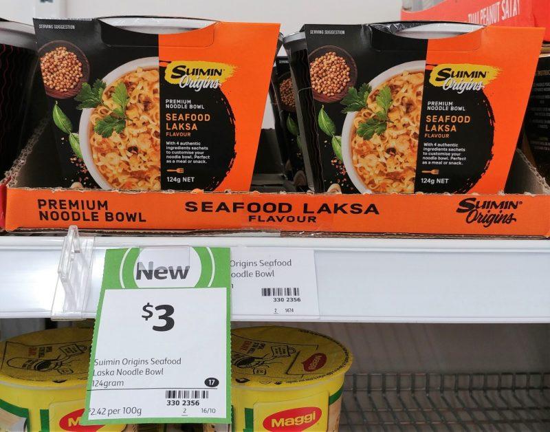 Suimin 122g Origins Noodle Bowl Seafood Laksa Flavour