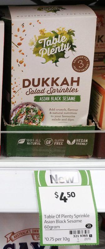 Table Of Plenty 60g Dukkah Salad Sprinkles Asian Black Sesame