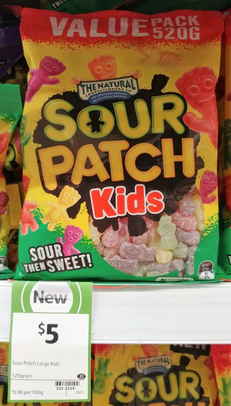 The Natural Confectionery Co 520g Sour Patch Kids