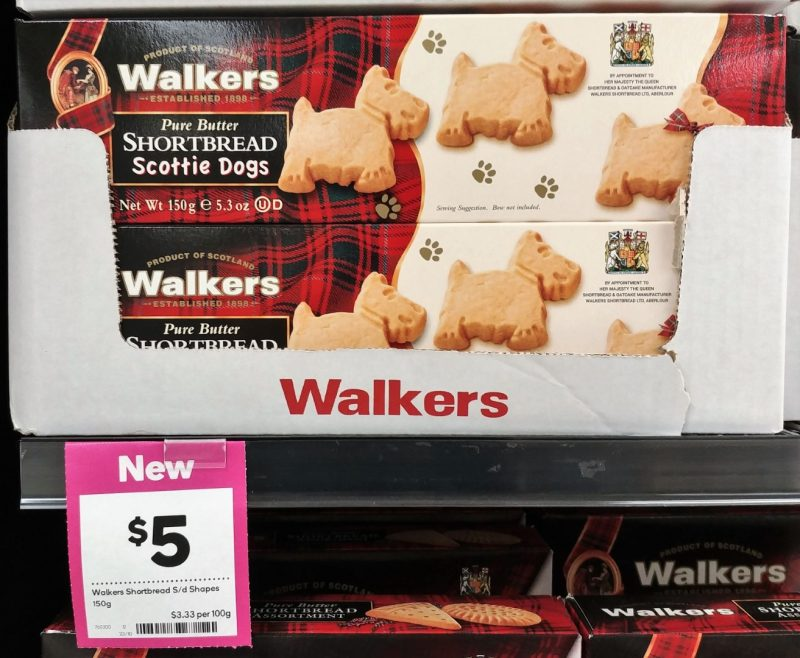Walkers 150g Shortbread Scottie Dogs