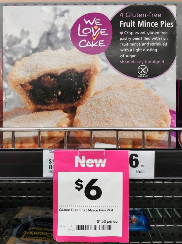 We Love Cake 4 Pack Fruit Mince Pies Gluten Free