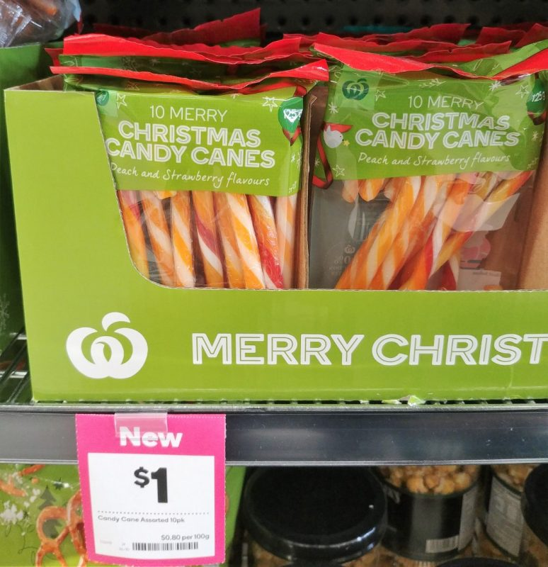 Woolworths 125g Candy Canes Christmas