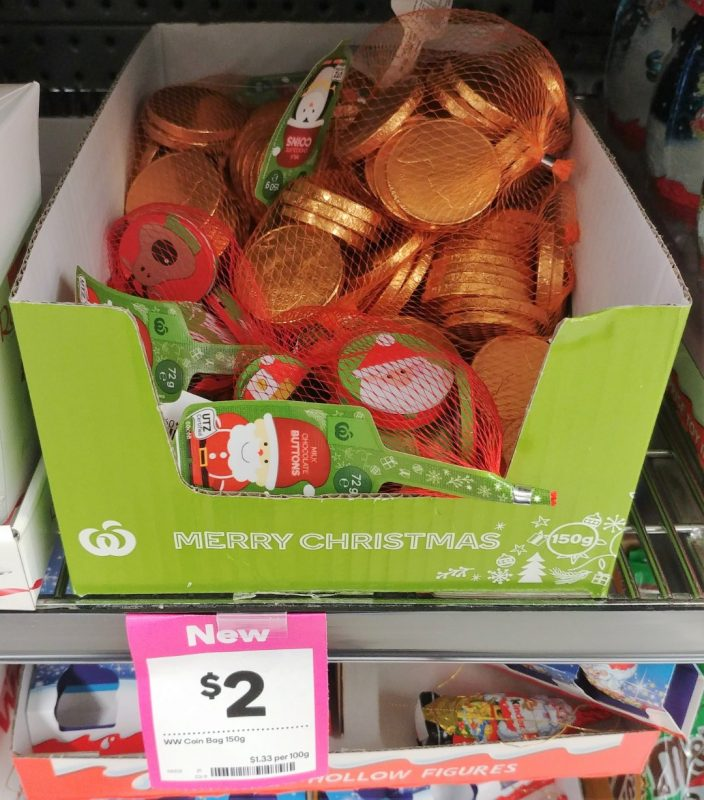 Woolworths 150g Milk Chocolate Coins