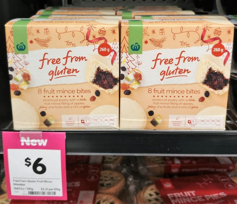 Woolworths 260g Fruit Mince Bites Free From Gluten