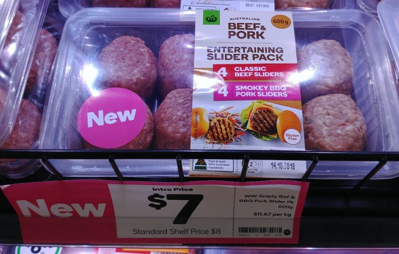 Woolworths 600g Entertaining Slider Pack Classic Beef, Smokey BBQ Pork
