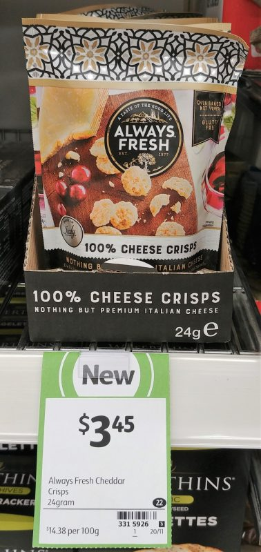 Always Fresh 24g Cheese Crisps