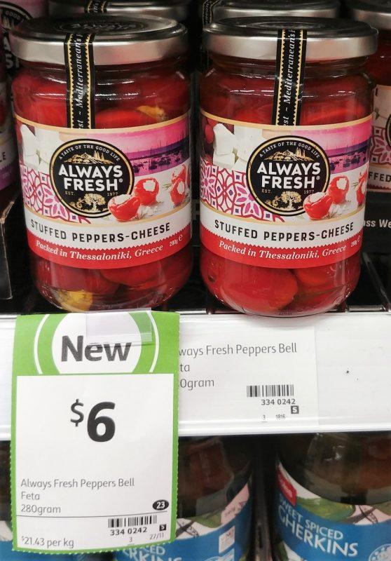 Always Fresh 280g Stuffed Peppers Cheese