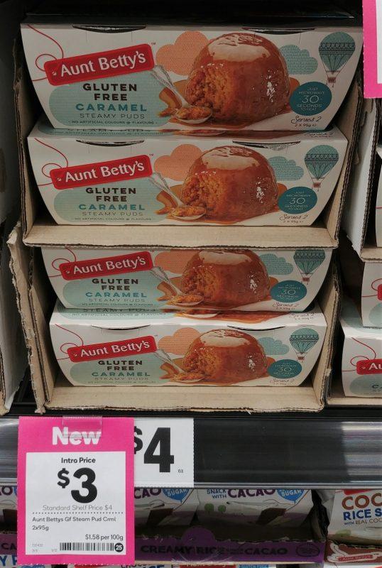 Aunt Betty's 2 X 95g Steamy Puds Gluten Free Caramel